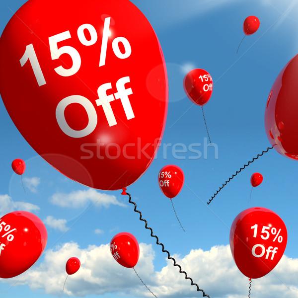 Balon 15 satış indirim Stok fotoğraf © stuartmiles
