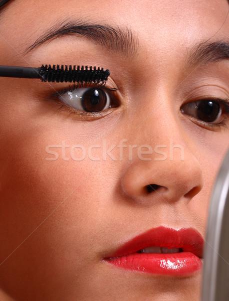 代 適用 マスカラ 美しい 顔 ミラー ストックフォト © stuartmiles