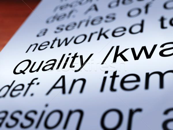Calidad definición primer plano excelente producto Foto stock © stuartmiles