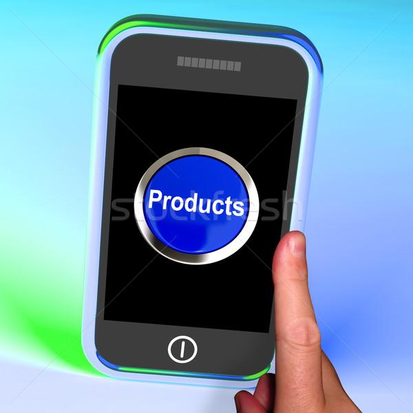 製品 ボタン 携帯 インターネットショッピング ストックフォト © stuartmiles