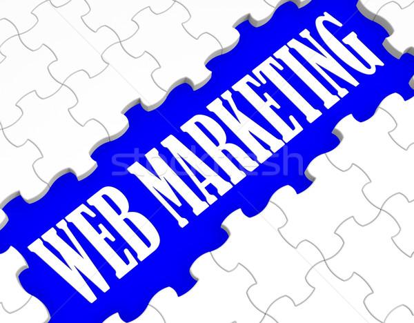 ウェブ マーケティング パズル インターネット 販売 広告 ストックフォト © stuartmiles