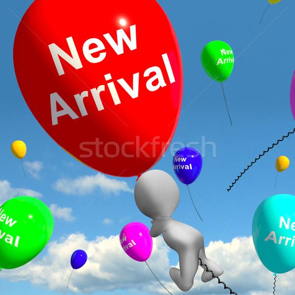 Nieuwe aankomst ballonnen tonen producten collectie Stockfoto © stuartmiles
