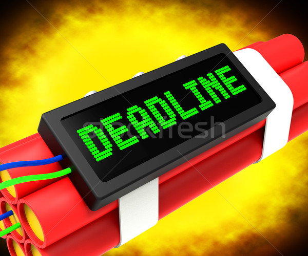 Deadline On Dynamite Shows Pressure And Urgency Stock photo © stuartmiles