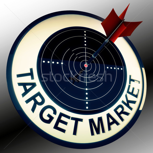 Target Market Means Targeting Customers Direct Stock photo © stuartmiles