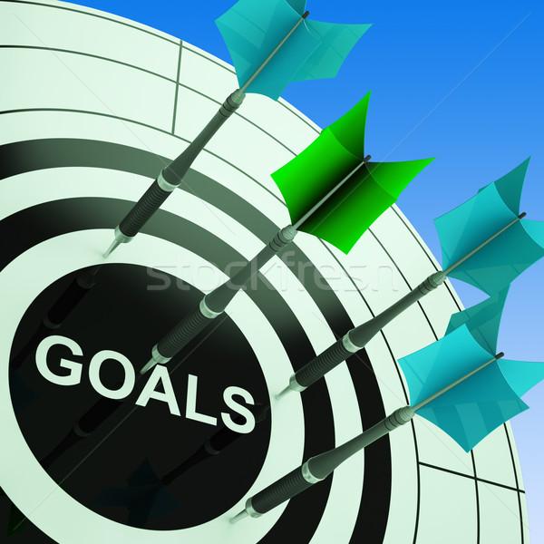 Goals On Dartboard Showing Future Plans Stock photo © stuartmiles