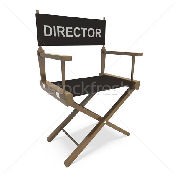Stock photo: Director Chair Shows Film Producer Or Moviemaker