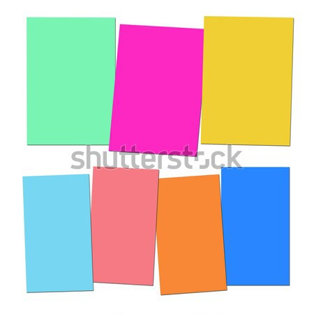 Three And Four Blank Paper Slips Show Copyspace For 3 Or 4 Lette Stock photo © stuartmiles
