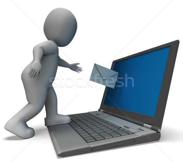 E-mail laptop corrispondenza segno Foto d'archivio © stuartmiles