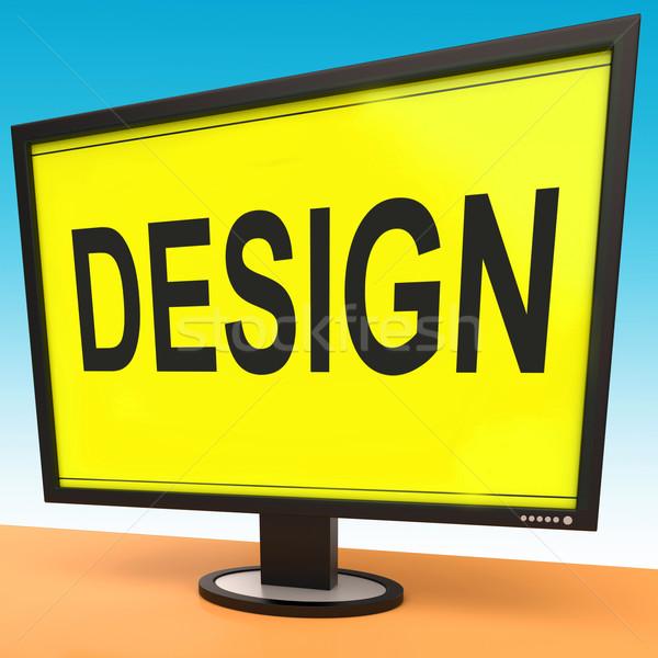 Design On Monitor Shows Creative Artistic Designing Stock photo © stuartmiles