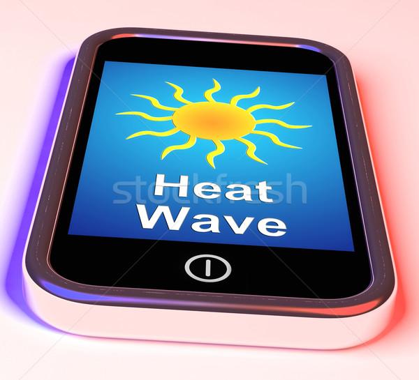 ısı dalga telefon sıcak hava durumu Stok fotoğraf © stuartmiles