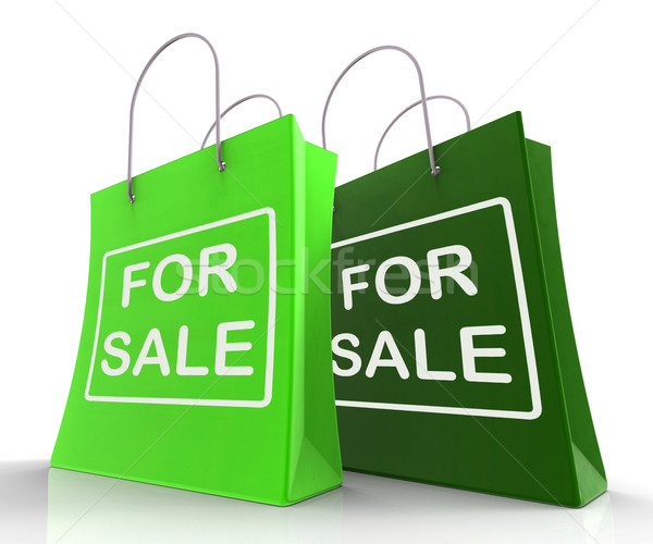 For Sale Bags Represent Retail Selling and Offers Stock photo © stuartmiles