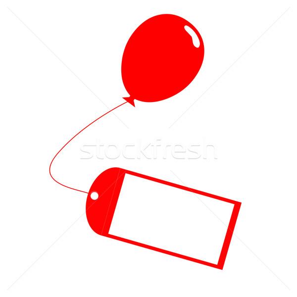 Verjaardag Bericht.Kaart Ballon Aanwezig Label Verjaardag Bericht