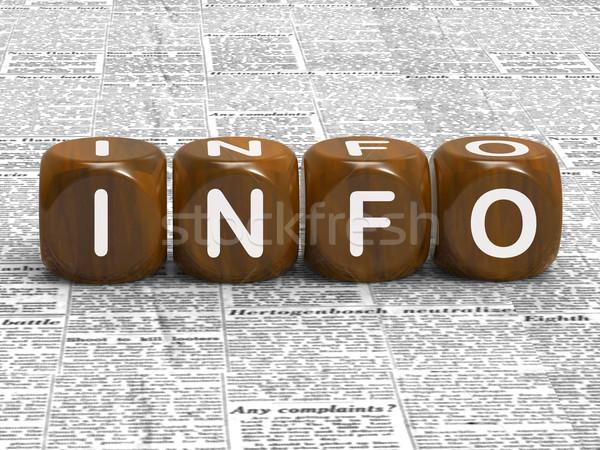Info dobbelstenen show feiten gegevens details Stockfoto © stuartmiles