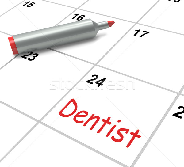 Dentist Calendar Shows Oral Health And Dental Appointment Stock photo © stuartmiles