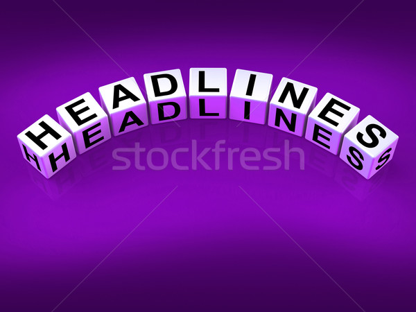 Headlines Blocks Mean Feature Header and Heading Stock photo © stuartmiles