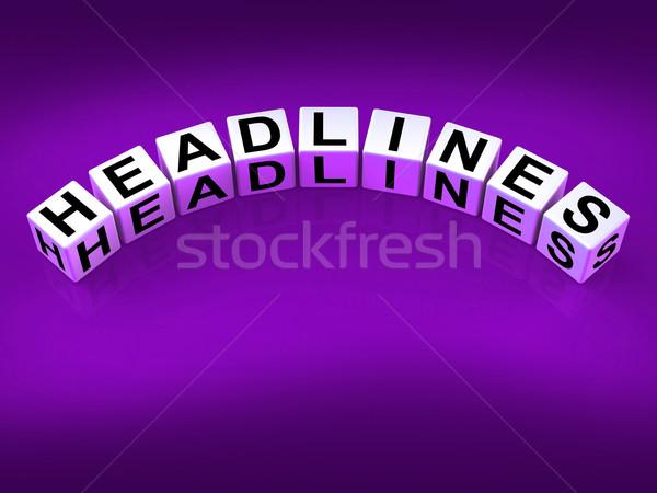 Főcímek kockák tulajdonság fejléc jelentés hírek Stock fotó © stuartmiles