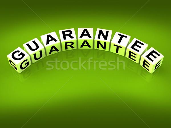 Guarantee Blocks Show Pledge of Risk Free Guaranteed Stock photo © stuartmiles