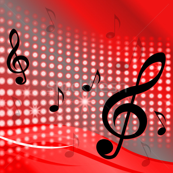 Treble Clef Background Shows Music Notes And Composer Tone Stock photo © stuartmiles