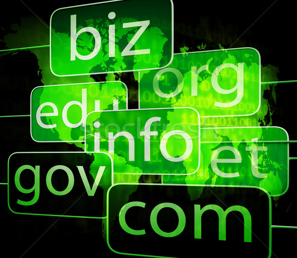 biz com net shows websites internet or seo Stock photo © stuartmiles