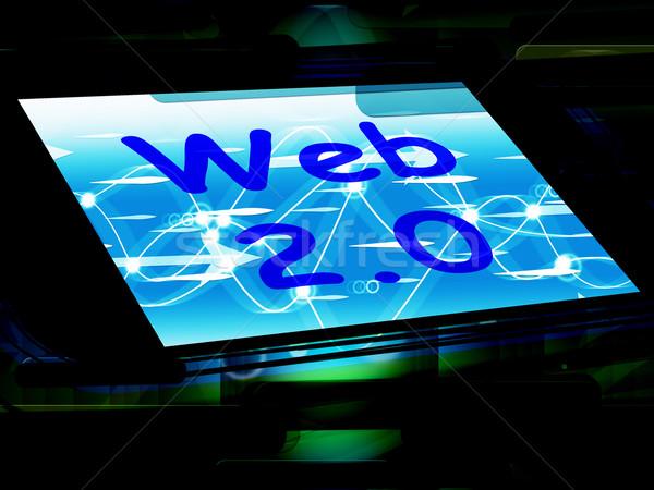 Web 20 écran net technologie réseau Photo stock © stuartmiles