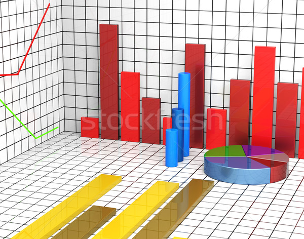 Graph Report Shows Statistic Statistics And Infochart Stock photo © stuartmiles