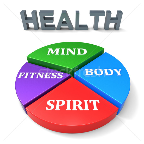 Health Chart Shows Working Out And Athletic Stock photo © stuartmiles