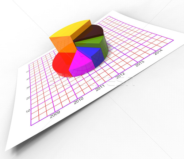 Pie Chart Shows Business Graph And Biz Stock Photo Stuart Miles