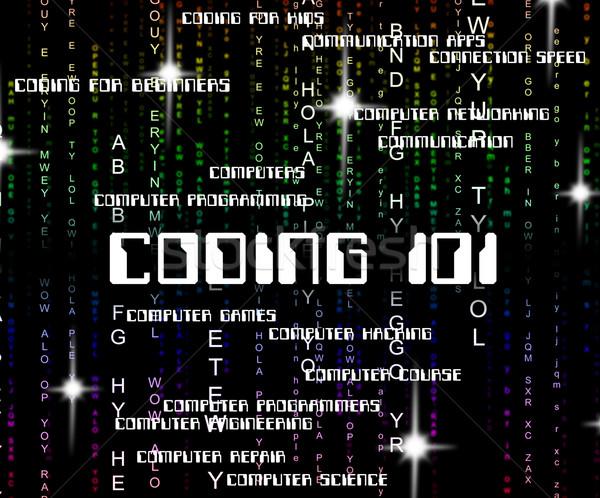 Parola codifica testo istruzione software codice Foto d'archivio © stuartmiles
