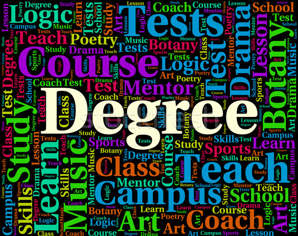 Degree Word Shows Graduate Words And Graduation Stock photo © stuartmiles
