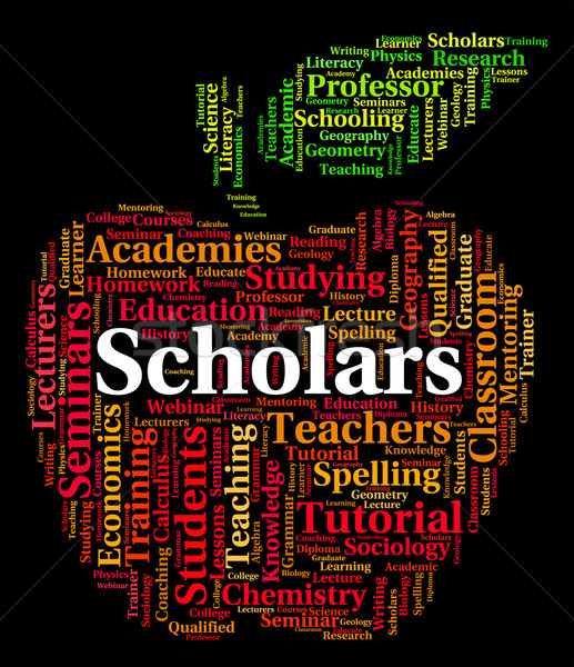 Scholars Word Shows Learned Person And Academic Stock photo © stuartmiles