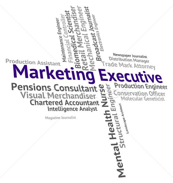 Marketing uitvoerende directeur baas betekenis senior Stockfoto © stuartmiles