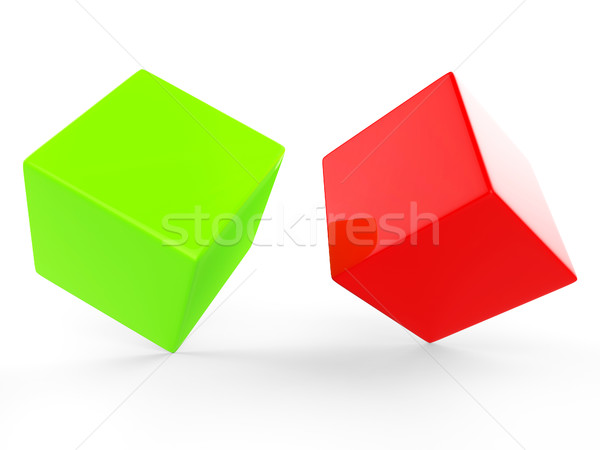 Dice Blocks Means Empty Space And Blank Stock photo © stuartmiles