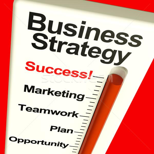 Foto stock: Estrategia · de · negocios · éxito · visión · motivación · alto