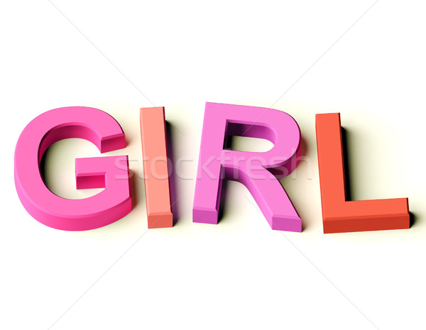 çocuklar harfler yazım kız simge çocukluk Stok fotoğraf © stuartmiles