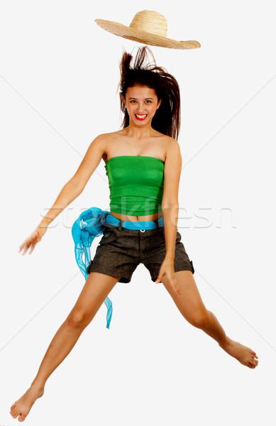 Happy Girl Jumping For Joy Stock photo © stuartmiles