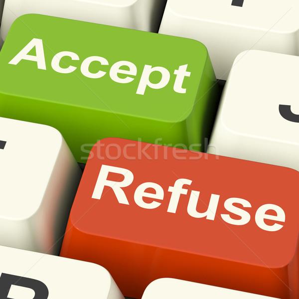 Teclas aceitação negação mostrar teia Foto stock © stuartmiles