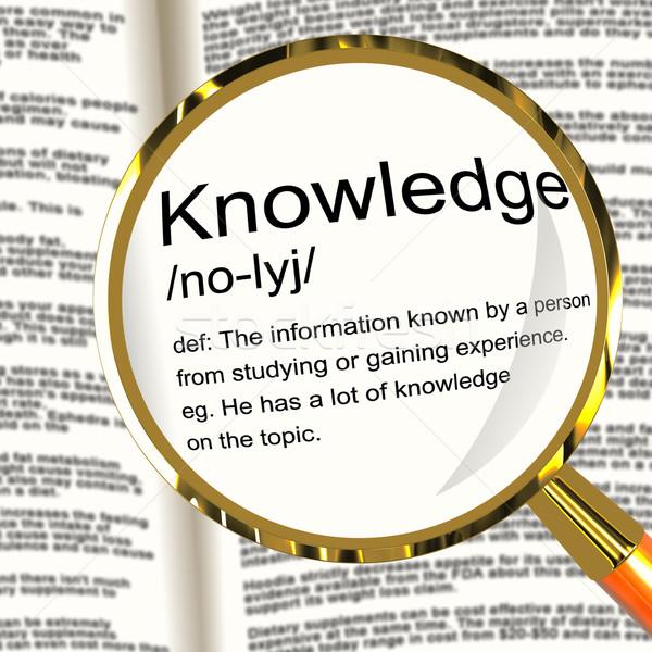 Сток-фото: знания · определение · информации · интеллект