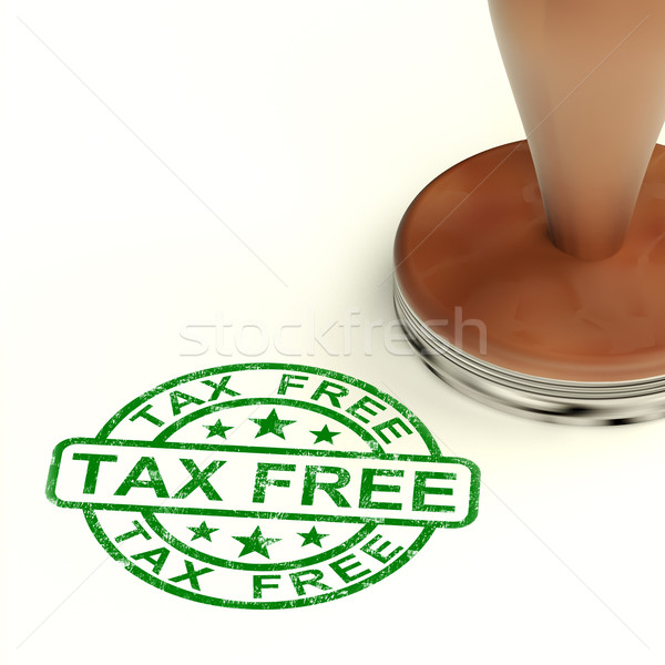 Tax Free Stamp Shows No Duty Or Untaxed Shopping Stock photo © stuartmiles