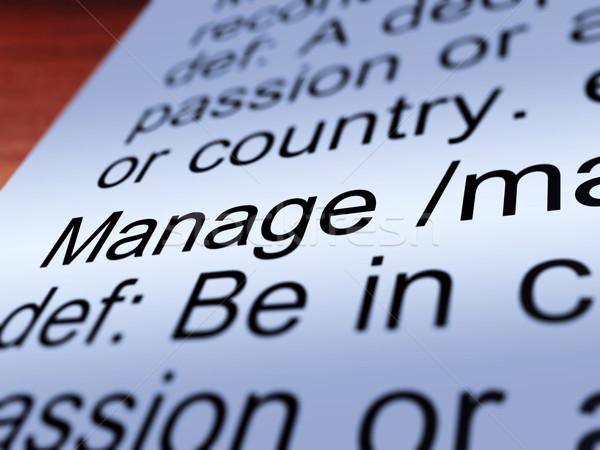 Meghatározás közelkép mutat vezetőség irányítás felügyelet Stock fotó © stuartmiles