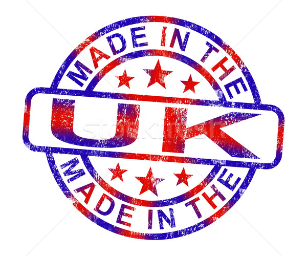 Made In The Uk Stamp Shows Product Or Produce From Britain Stock photo © stuartmiles