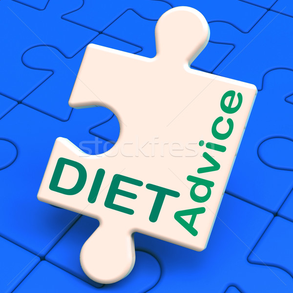 Stock photo: Diet Advice Shows Slimming Information And Recommendations