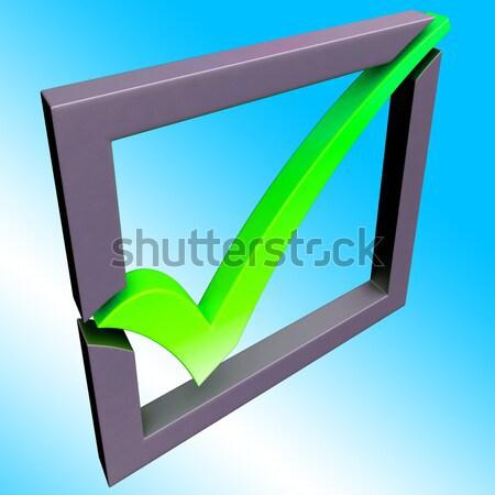 Check Mark On Screen Shows Agreement Stock photo © stuartmiles