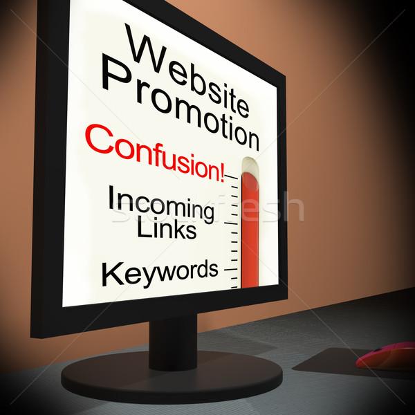 Stronie promocji monitor reklama Zdjęcia stock © stuartmiles