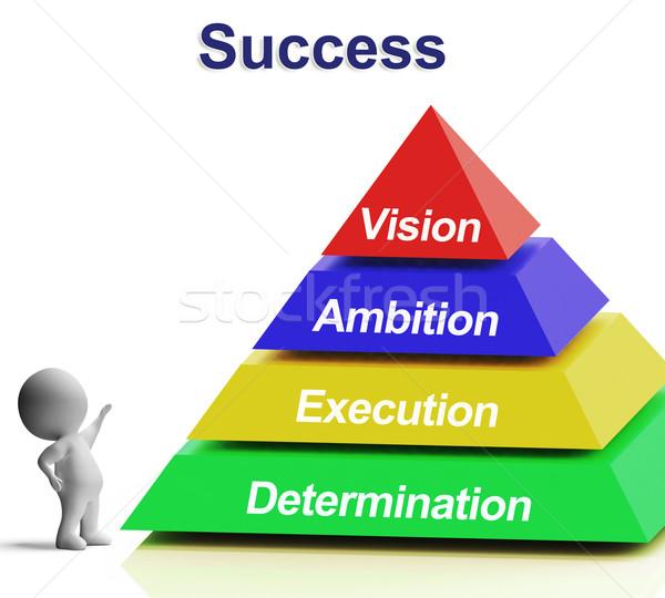 Başarı piramit vizyon hırs strateji Stok fotoğraf © stuartmiles
