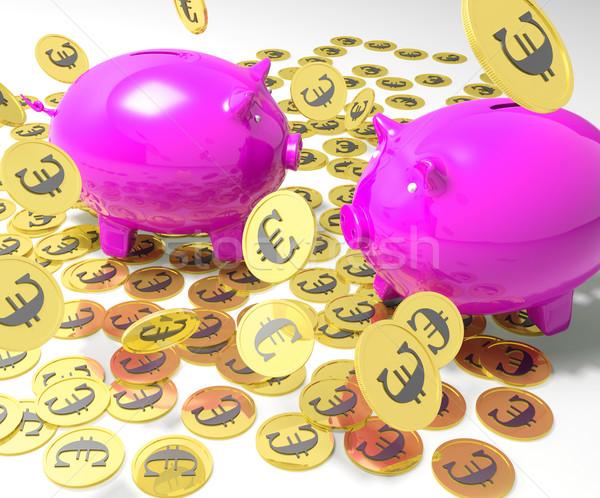 Piggybanks On Coins Shows European Financial Status Stock photo © stuartmiles