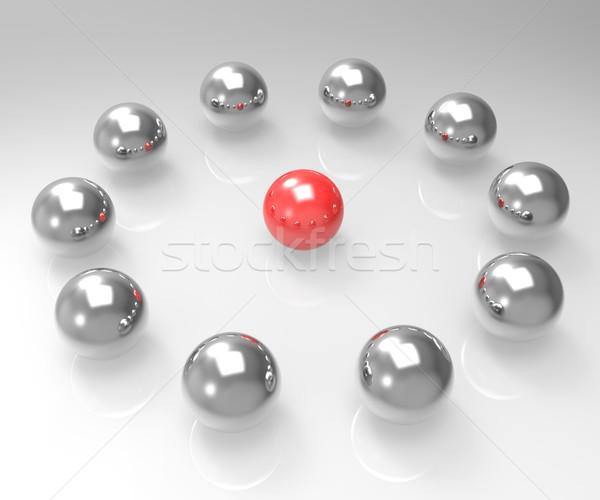 金属 球 リーダーシップ セミナー 管理 ストックフォト © stuartmiles