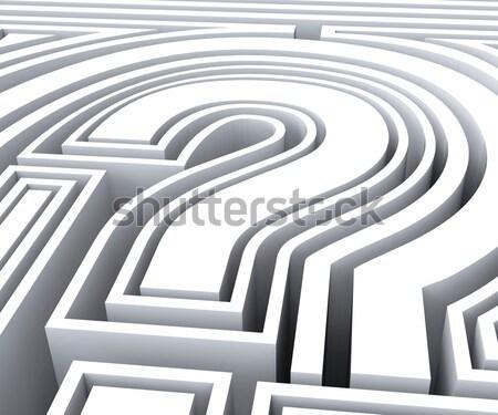 вопросительный знак символ часто задаваемые вопросы запрос Сток-фото © stuartmiles