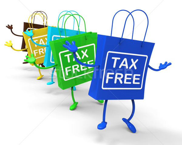 Tax Free Bags Represent Duty Exempt Discounts Stock photo © stuartmiles