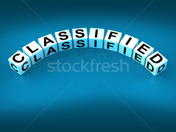 Classified Dice Show Top Secret Confidential And Restricted Acce Stock photo © stuartmiles