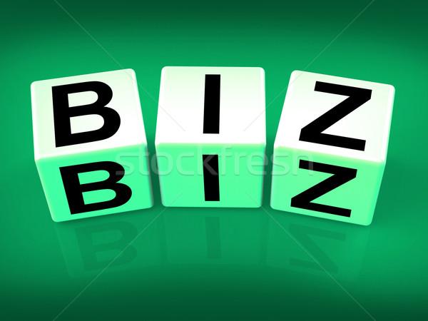 Biz Blocks Show Business Occupation Pursuit or field Stock photo © stuartmiles